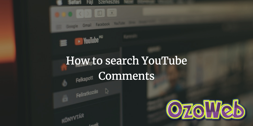 Youtube Comment Finder